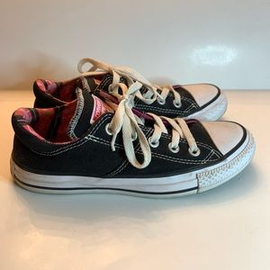 Women's Converse All Star Size 6 Black & Pink